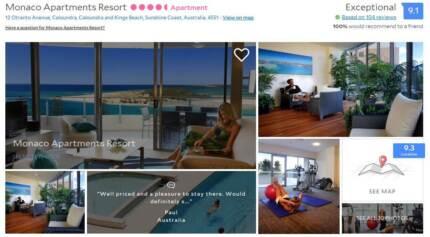 One or Two Night Sunshine Coast Caloundra Luxury Resort Getaway