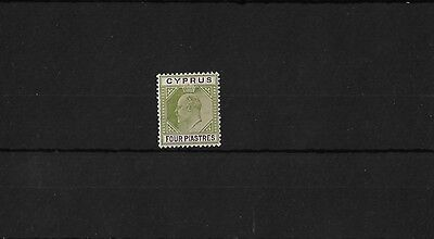 CYPRUS SG66, 4PI OLIVE & PURPLE, MOUNTED MINT, CAT £29