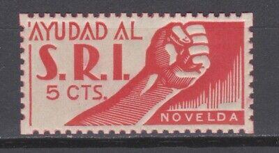 1937 NOVELDA (ALICANTE). SOCORRO ROJO INTERNACIONAL NUEVO**.