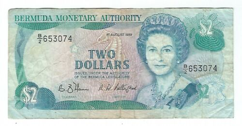 Bermuda - Two (2) Dollars, 1989