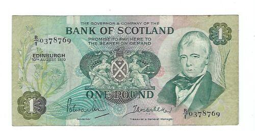 Scotland - 1970, One (1) Pound
