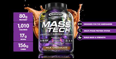 MuscleTech MASS TECH #1 Muscle Mass Weight Gainer Protein 7