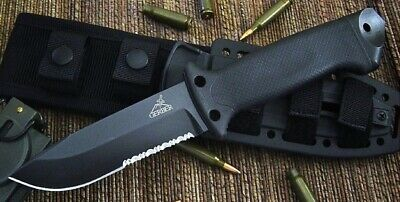 Gerber LMF II Infantry Survival Fixed Blade Partially Serrated Knife BLACK