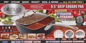 Gotham Steel 9.5 inch Deep square pan