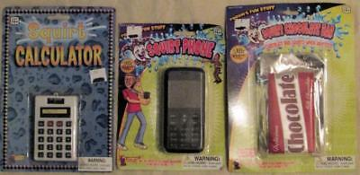 Squirt Squirting Calculator, Chocolate and Cell Phone Set Joke Gag Prank Toy - Jokes And Gags Toys