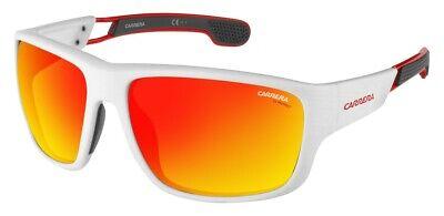 New CARRERA 4006/s Matte White Red Yellow 63mm Sport Wrap Big Unisex Sunglasses