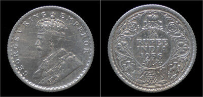 India King George V 1/4 rupee 1936
