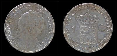 Nederland Wilhelmina I 1 gulden 1938