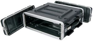 New 2U ABS 19 Inch Rack Flight DJ PA Equipment Transport Case Flightcase