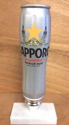Sapporo Premium Beer Silver Can Tap Handle ~ New In Box & F/S ~ 8.75