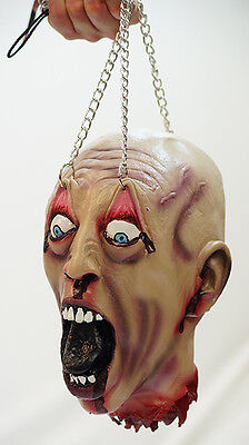 Really Really Scary Halloween Costumes (Halloween-Horror-Evil-Film-Scary-REALISTIC SEVERED HEAD WITH CHAINS Really)