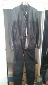 Hein Gericke Streetline Leather and Goretex 2 piece motorcycle suit -