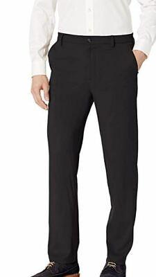 NWT VAN HEUSEN MEN'S BLACK AR COOLING MAX-FLEX WAIST DRESS PANTS SIZE 30 X 30