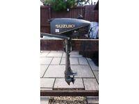 SUZUKI 2HP 2 STROKE OUTBOARD MOTOR FOR DINGHY TENDER RIB BOAT