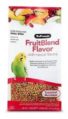 FRESH Zupreem Fruitblend 14 oz Natural Daily Bird Food Parakeets Small Parrots