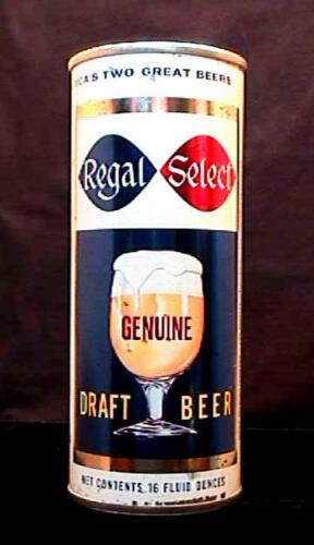 REGAL SELECT GENUINE DRAFT BEER - MID 1960