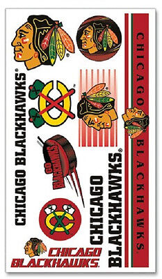 Chicago Blackhawks Temporary Tattoos 10 Pack [NEW] NHL Stickers Tattoo CDG - Blackhawks Tattoo