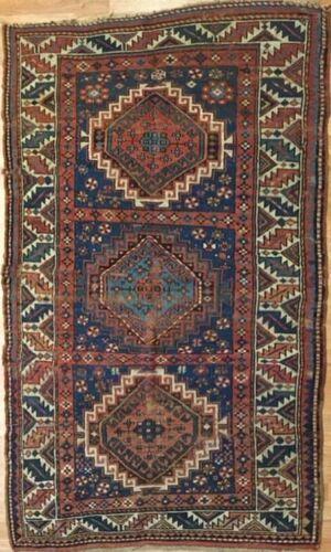 Classic Caucasian - 1900s Antique Kazak Rug - Tribal Nomad Carpet - 4 X 6.6 Ft