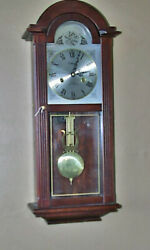 Fine Original One Owner Waltham Pendulum Wall Clock Mahogany Case And Key