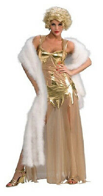 Golden Starlet Marilyn Monroe Gold Fancy Dress Up - Fancy Dress Marilyn Monroe