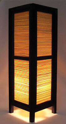 ASIAN ORIENT LIVING ROOM TABLE / FLOOR LAMP LIGHTING - *TALL BAMBOO WOOD BLIND*