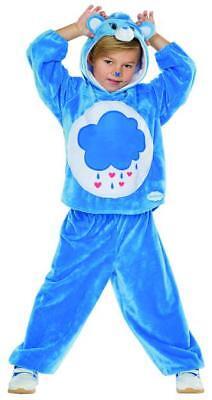 Glücksbärchi Brummbärchi Kostüm Pyjama Kinder Bär blau Karneval - Glücksbärchi Kostüm Kinder