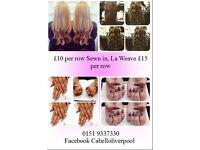 Nails, shellac acrylic, beauty Make up and hair £10 per row sewn in la weave £15 per row