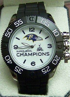 Baltimore Ravens Super Bowl Xlvii Watch Game Time Mens Beast Nfl Bea Bal Ch13