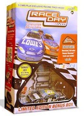 2005 Nascar Race Day CRG Constructible Racing Game 5 Car + Pocono Track