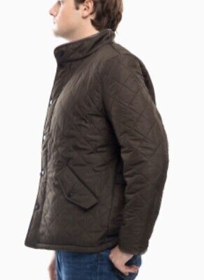 Barbour, Size XL, Men's 'Powell' Regular Fit Quilted Jacket, Color Olive, NWT