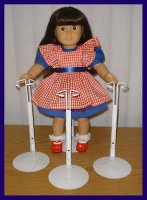 """3 White Kaiser Doll Stands for 18"""" AMERICAN GIRL Dolls"""
