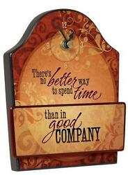 Wall or Desk Clock by Carson Home Accents--Spend time in GOOD COMPANY #12012