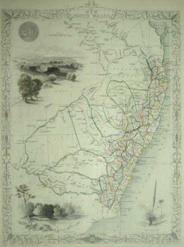 NEW SOUTH WALES BY JOHN TALLIS C. 1850.