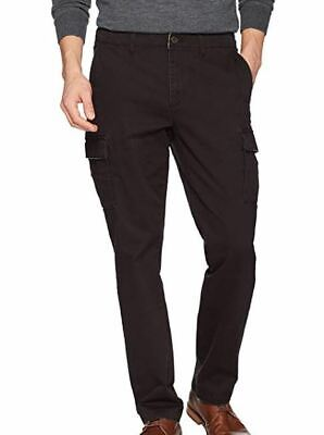 NWOT GOOD THREADS MENS BLACK CASUAL CARGO PANTS SIZE 35 X 32