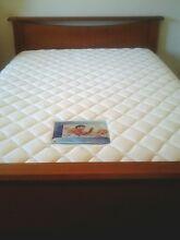 "Beautiful ""Furnir Furniture""  wooden queen bed and mattress Logan Central Logan Area Preview"