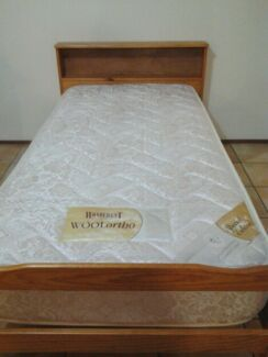 Wooden single bed with Wonderest mattress, delivery available Brisbane City Brisbane North West Preview