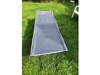 Folding camp bed , strong , adult size