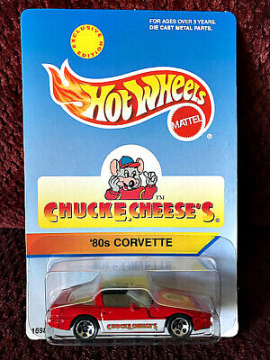 Hot Wheels 1996 Chuck E Cheese's '80's Corvette Exclusive Edition Nice! Mattel