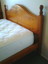 Beautiful wooden queen bed with almost new mattress Daisy Hill Logan Area Preview