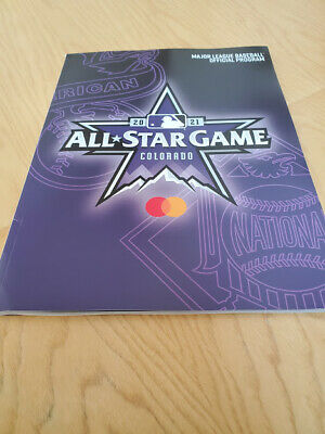 2021 MLB All Star Game Program Official - Coors Field Denver Colorado 7/13/21