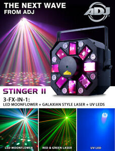 AMERICAN DJ STINGER II DMX 3-IN1 EFFECTS LED DJ PARTY STAGE LIGH