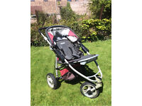 AWESOME Quinny Speedi FX lightweight all-terrain baby jogger pushchair stroller