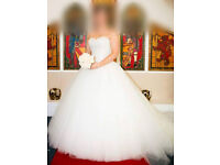 JUSTIN ALEXANDER WEDDING DRESS SIZE 12 STYLE 8158 - RECENTLY DRY CLEANED