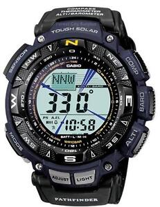New CASIO PAG240B-2 TOUGH SOLAR PATHFINDER TRIPLE SENSOR MULTI-FUNCTION SPORT WATCH