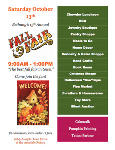 15th Annual Fall Fair