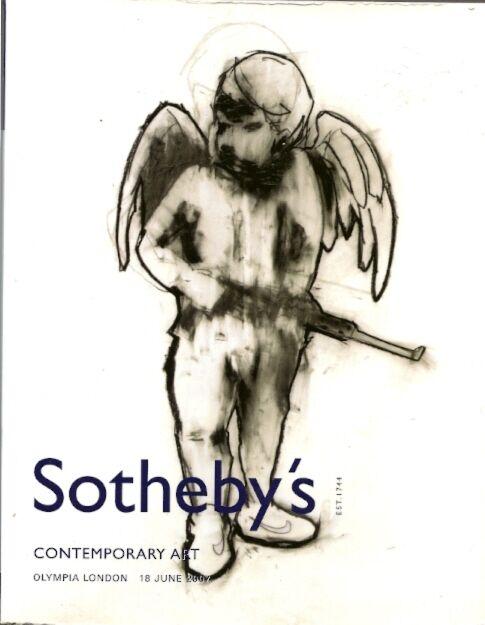 SOTHEBY'S Catalog BANKSY Hirst Murakami Mikallef Kusama Auction Catalog 2007
