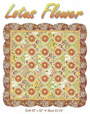 PATTERN Primitive LARGE Floral Lotus Flower Quilt UNCUT OOP Allison Designs -