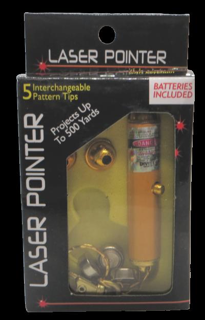 Laser Pointer - 5 Interchangeable Pattern Heads