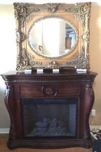 Very large impressive ornate mirror