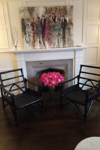 Black Wicker Chairs - Set of 2 for $50.